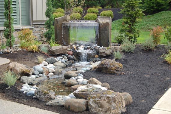 Water and rock garden Feature