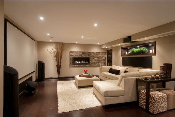 well-appointed media room