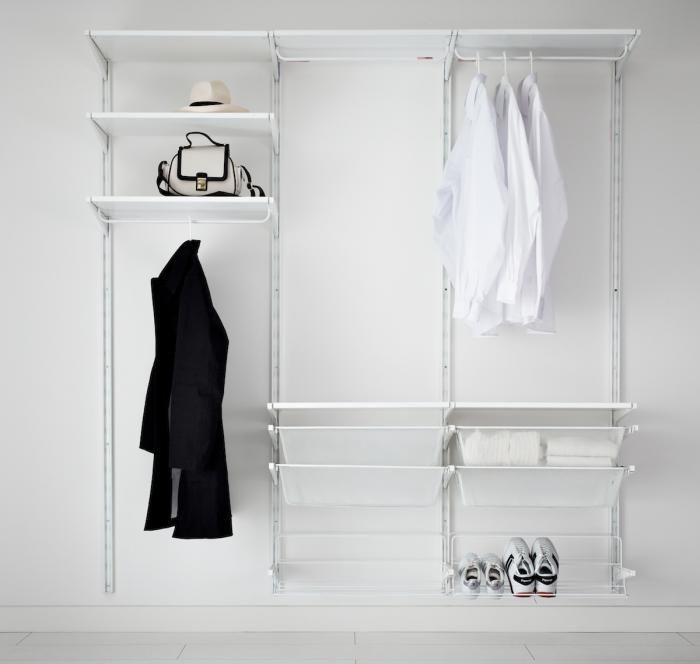 white open clothes organiser