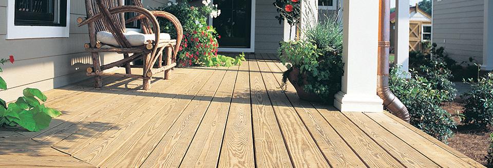 verandah with pressure treated wood floor