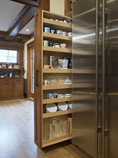 kitchen pull out vertical storage