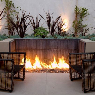 contemporary booth Fire Pit