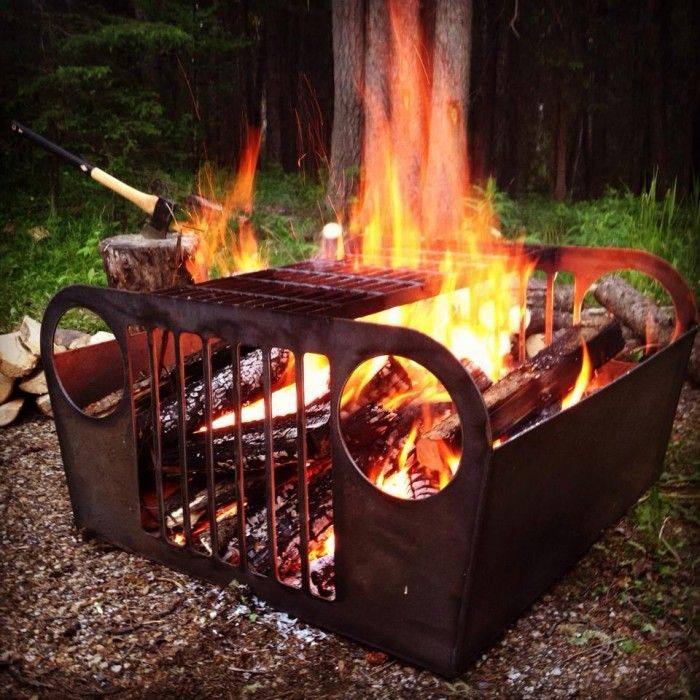 Old Jeep Fire Pit