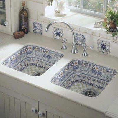 Moroccan ceramic kitchen sink
