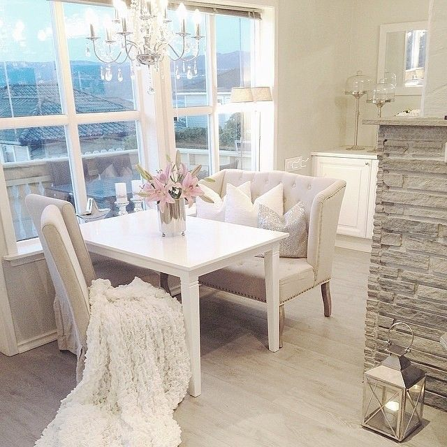 posh breakfast nook with a view