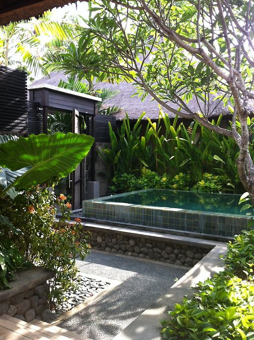 Balinese Style Pool and Garden