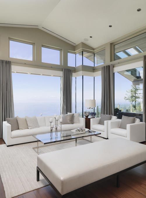 white and airy living room design