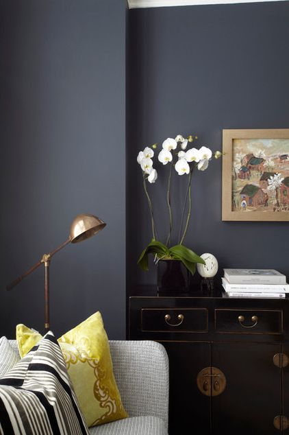 dramatic matte grey walls
