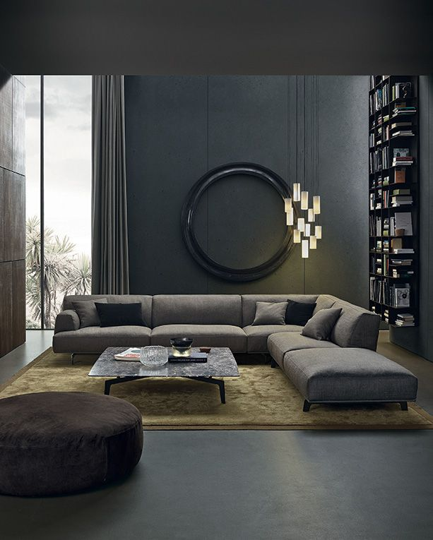 modern grey living room