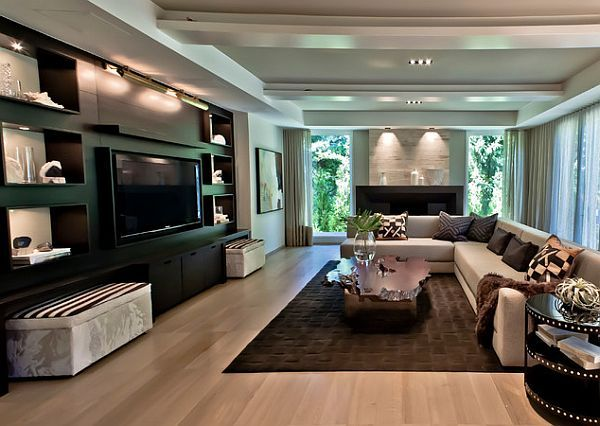 well-lighted classy living room