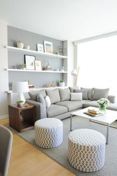 cosy grey living room design