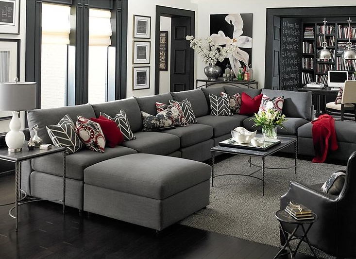 luxurious grey living room