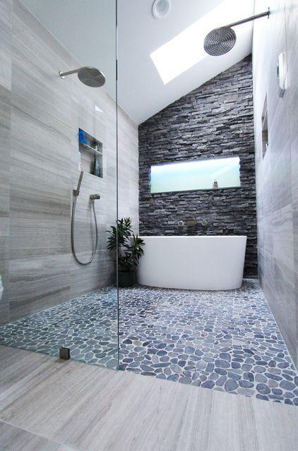 natural stone bathroom design