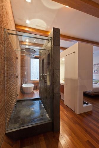 no-door bathroom design