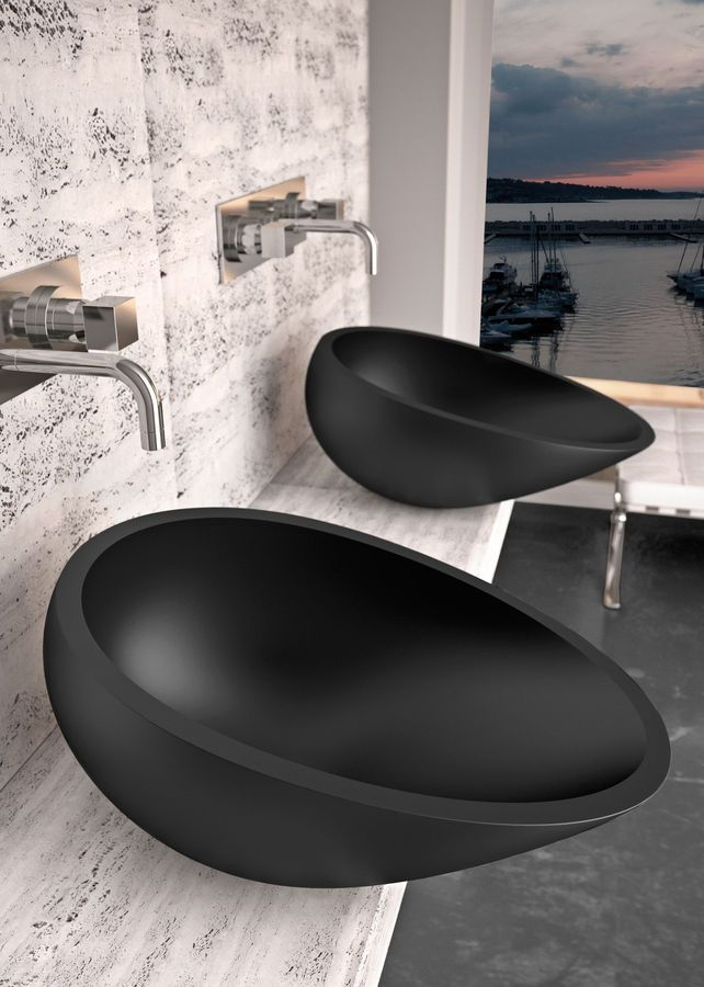 modern matte black wash basins