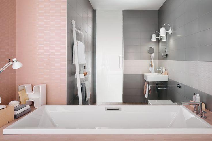alternative pink and grey bath