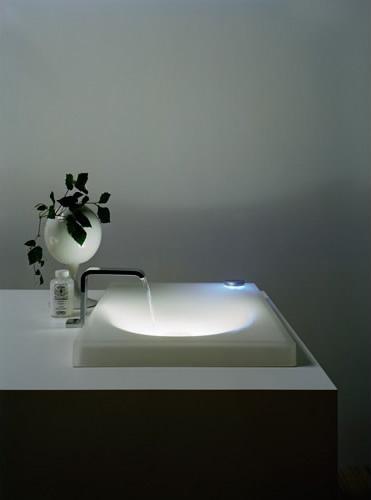lighted wash basin