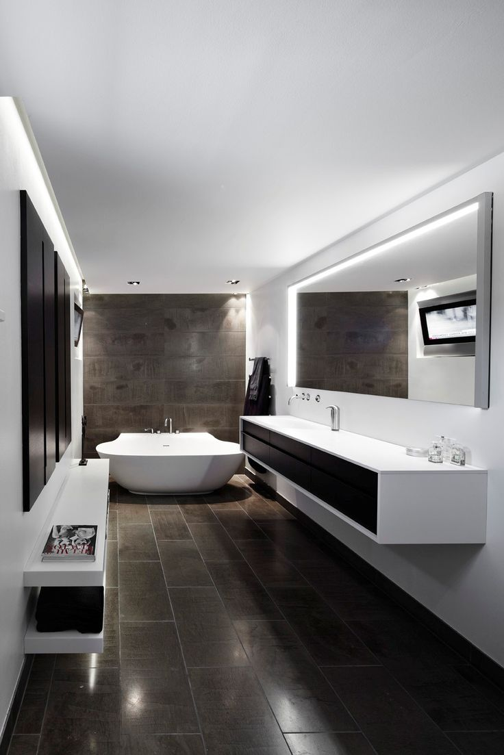 clean and modern minimalist bathroom