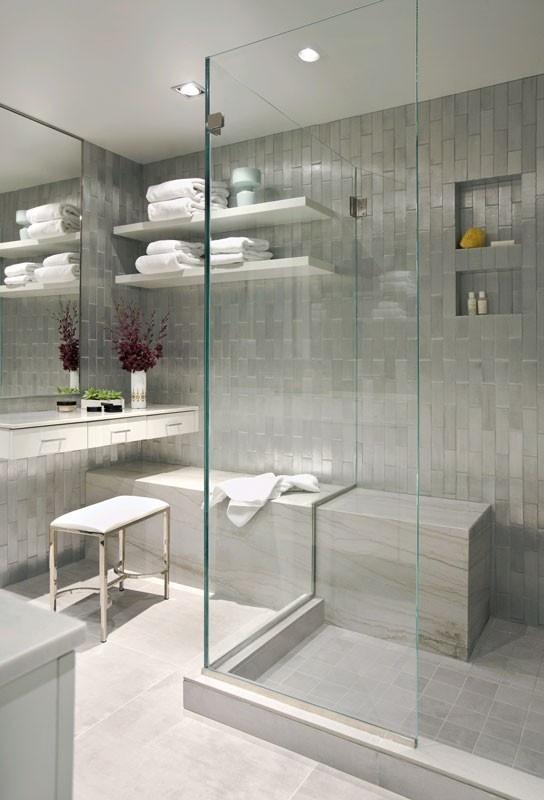 modern bathroom with a nook