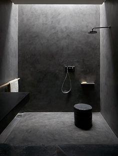 austere concrete bathroom