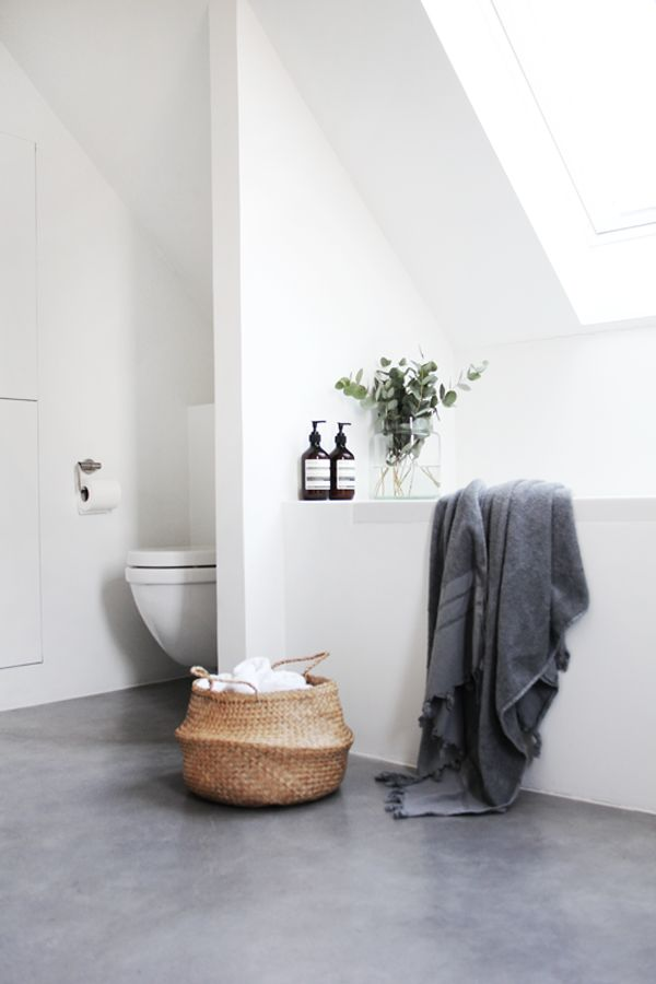 comfortable white bath