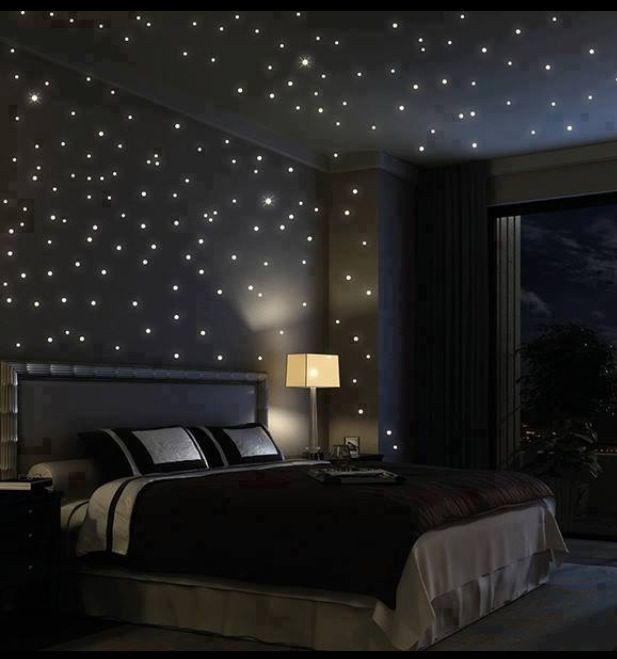starry ceiling bedroom