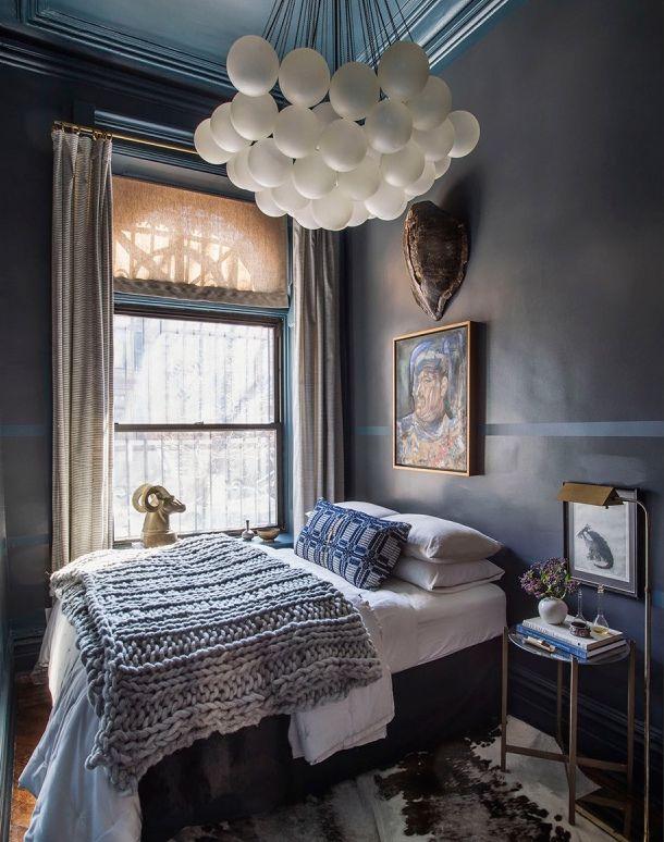moody textured bedroom