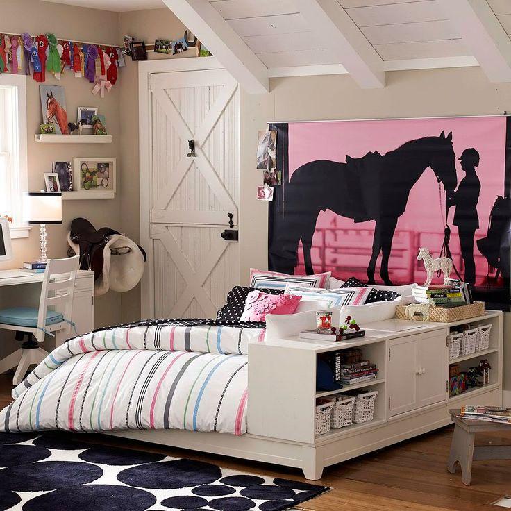 barn inspired girl's bedroom