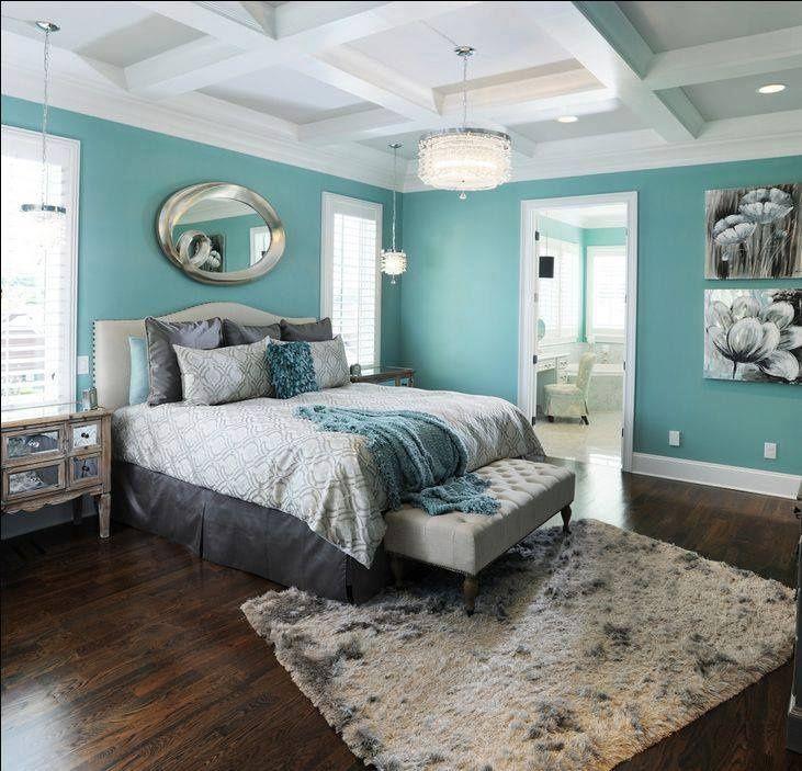 classic coffered teen's bedroom