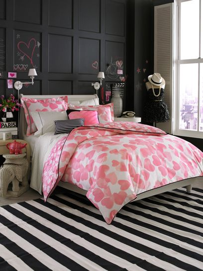 glamorous pink and grey bedroom