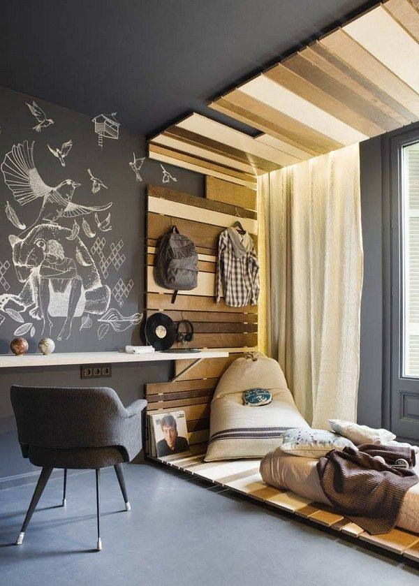 modern minimalist teen bedroom