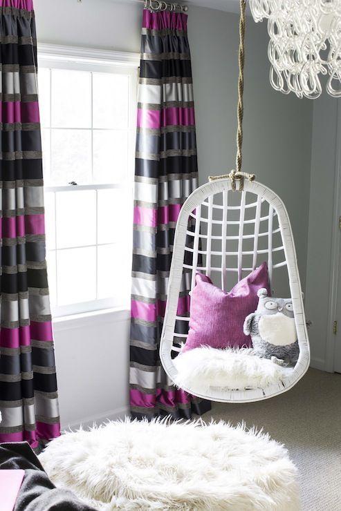 white wicket bedroom swing