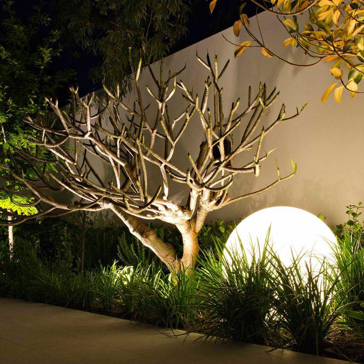 large round garden lighting