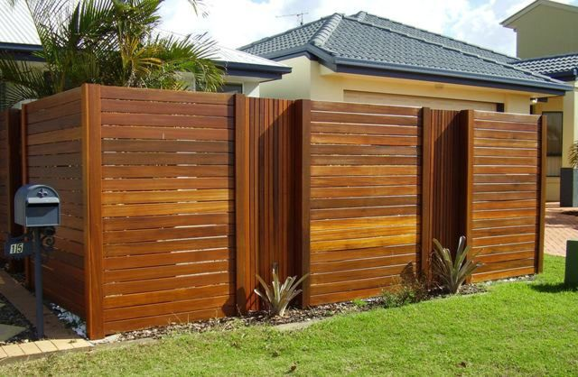 attractive wood front fence