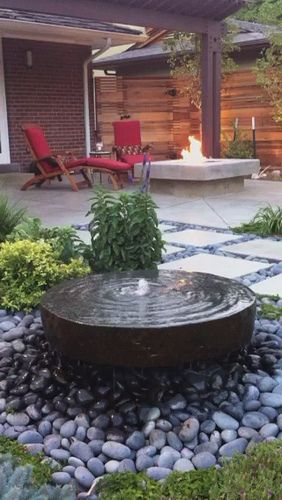 water and fire garden features