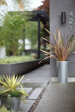 modern silver planters