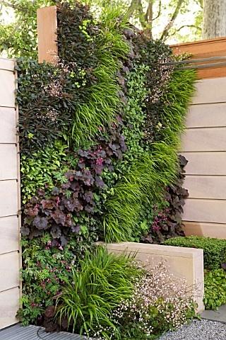 vertical garden yard feature