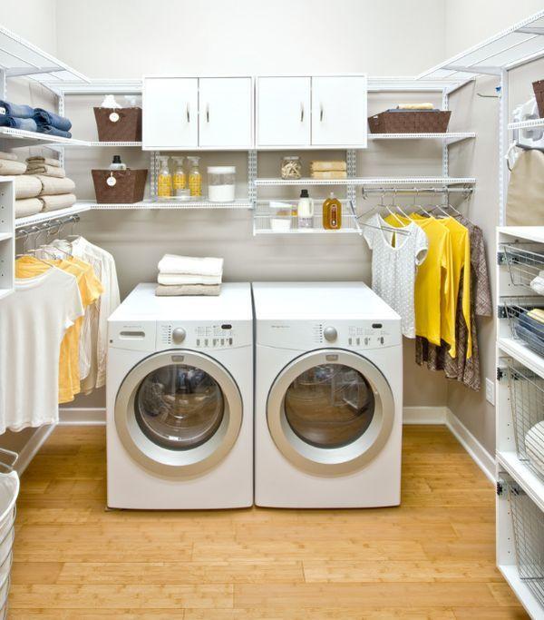 walkin laundry in a closet