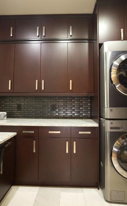 sleek and contemporary laundry