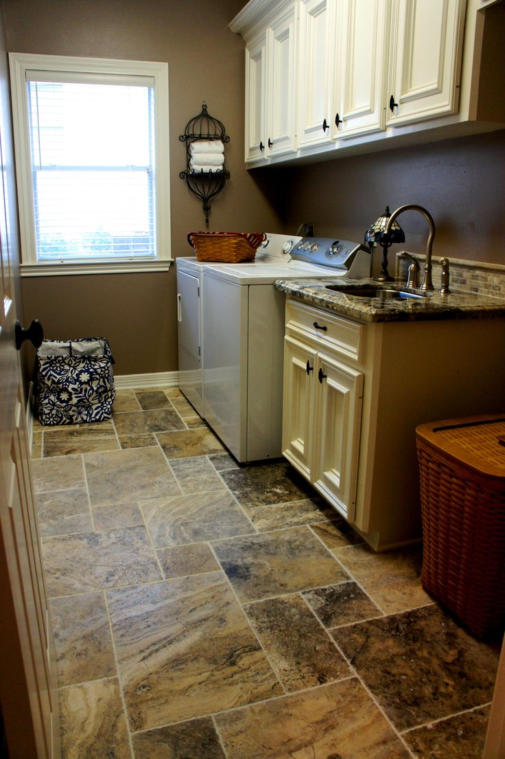 marbled laundry room