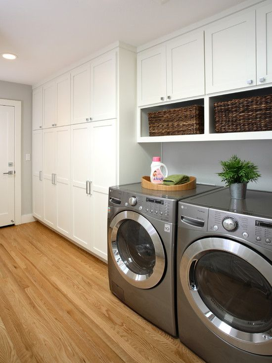 laundry with ample storage room