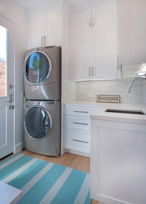 well lighted beach house laundry