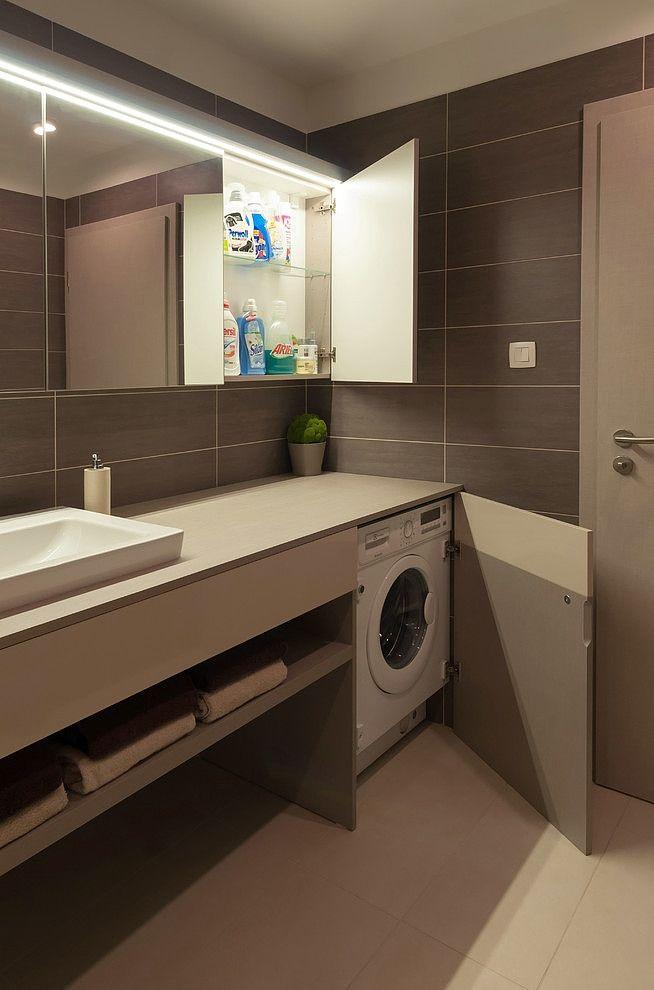 hideaway bathroom laundry