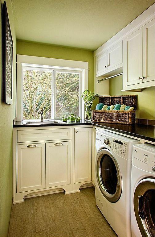 compact cirtus green laundry