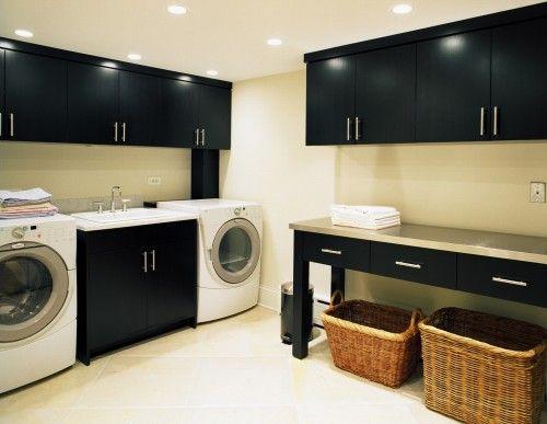 organised laundry room