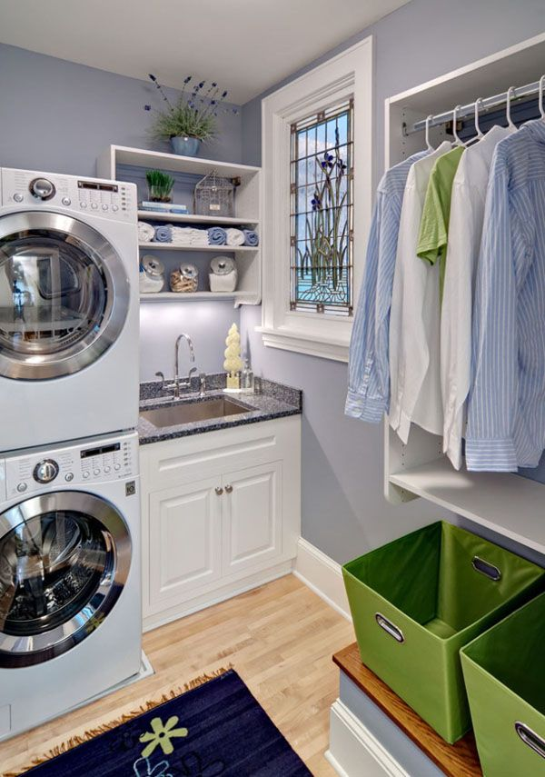 lovely lilac laundry room