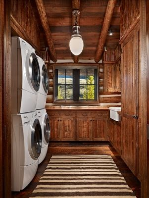 cabin laundry room
