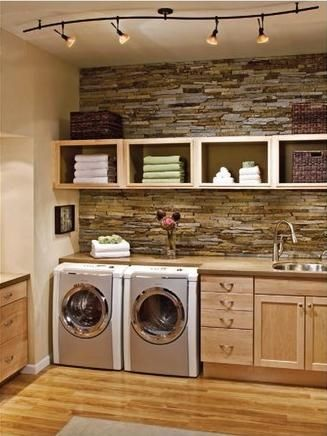 modern elegant laundry room