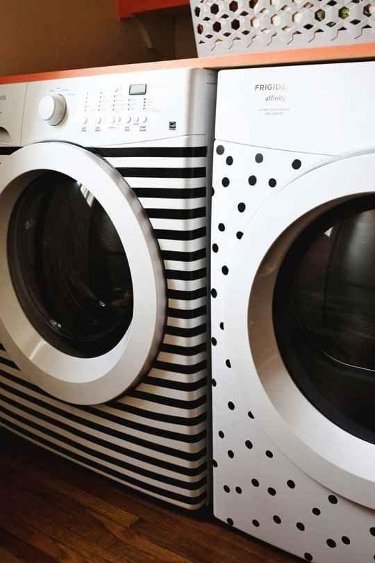 decorated laundry machines