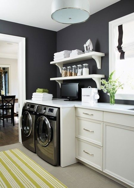 black and white laundry